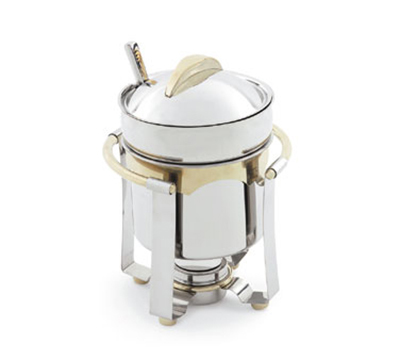 Vollrath 48326 4.2-qt Marmite - 24K Gold Accent, Mirror-Finish Stainless
