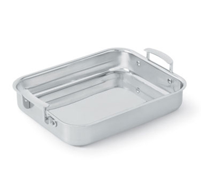 Vollrath 49435 2.8-qt Small Food Pan with Handles - Aluminum Bottom, 18-ga Stainless