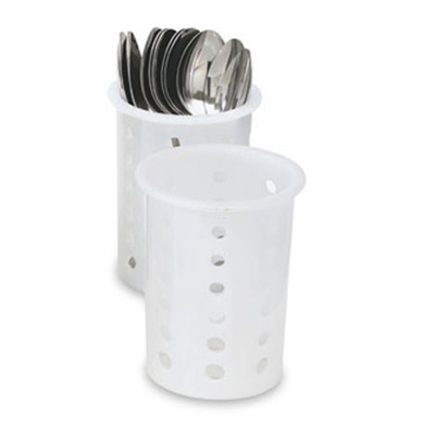 "Vollrath 52642 Flatware Cylinder - 5-5/8"" White Nylon"