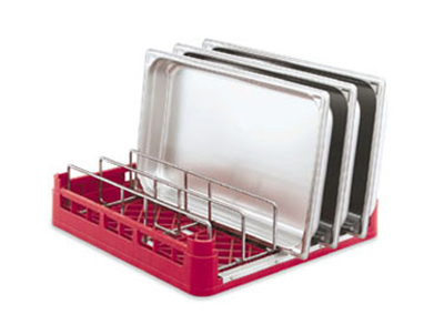 Vollrath 52669 Open-End Dishwasher Rack with Insert - F