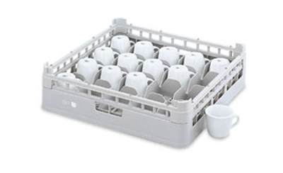 "Vollrath 52677 1 Dishwasher 20-Cup Rack - Medium, Full-Size, 19-3/4x19-3/4"" Green"