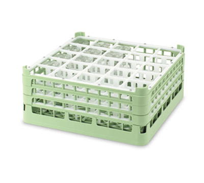 "Vollrath 52733 1 Dishwasher Rack - 25-Compartment, 3X-Tall, Full-Size, 19-3/4x19-3/4"" Gr"