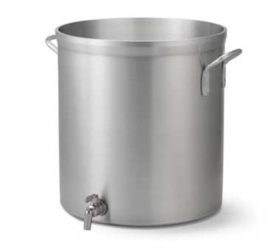 Vollrath 68661 60-qt Stock Pot with Faucet - Heavy-Duty, Natural-Finish Aluminum