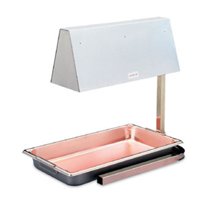 Vollrath 72500 Cayenne Heat Lamp - Red Bulbs, Full-Size, Adjustable Height 120v