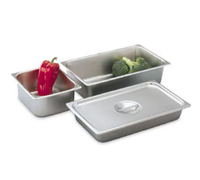 "Vollrath 74264 8-1/8-qt Deli Pan - Full-Size, 4"" Deep, 24-ga Stainle"