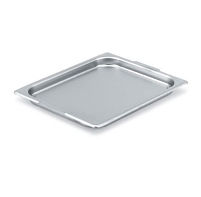 Vollrath 75025 Steam Table Transport Pan Cover - 1/2 Size, Flat Solid, Stainless