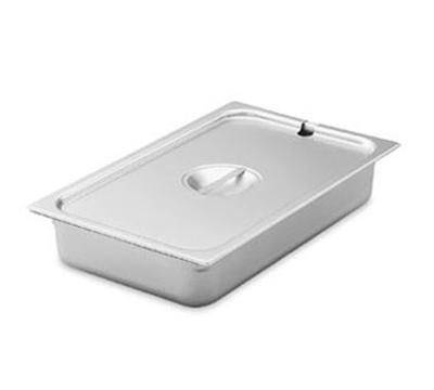 Vollrath 75230 Steam Table Pan Cover - 1/3 Size, Flat Slotted, Stainless