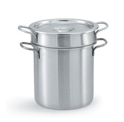 Vollrath 77130 20-qt Double Boiler - Loop Handles, Solid Cover, Stainless