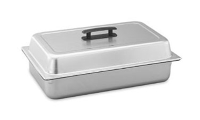 Vollrath 77200 Steam Table Pan Dome Cover - Full Size, Black Handle, Satin-Finish Stainless