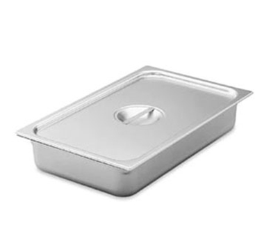 Vollrath 75050 Steam Table Pan Cover - 1/2 Size Long, Flat Solid, Stainless