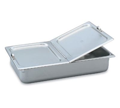 Vollrath 77430 Steam Table Pan Cover - Full Size, Hinged Flat Solid, Stainless