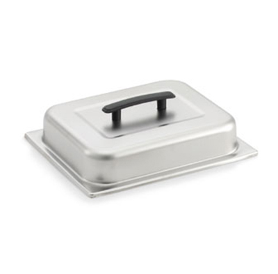 Vollrath 77500 Steam Table Pan Dome Cover - Half Size, Black Handle, Satin-Finish Stainless