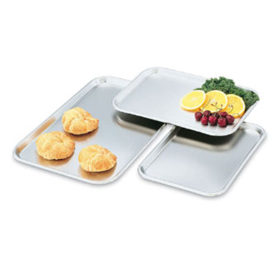 "Vollrath 80130 Rectangular Serving/Display Tray - 13-5/8x9-3/4x5/8"" Stainless"