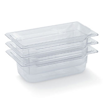 "Vollrath 8042410 1/4 Size Food Pan - 2-1/2"" Deep, Low-Temp, Clear Poly"