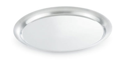 "Vollrath 82008 11-3/16"" Round Tray Cover - 18-ga Stainl"