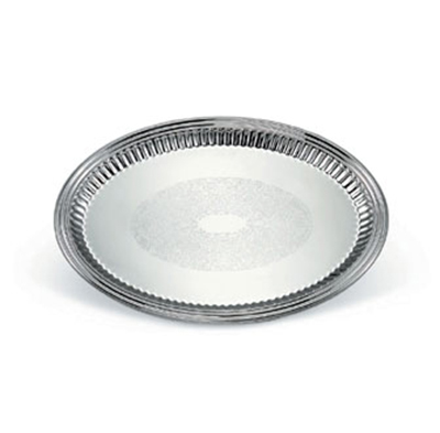 "Vollrath 82172 Oval Fluted Serving Tray - 13x17-5/8"" Stainless"