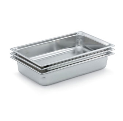 "Vollrath 90052 Steam Table Pan - Full Size, 2"" Deep, Stainless"