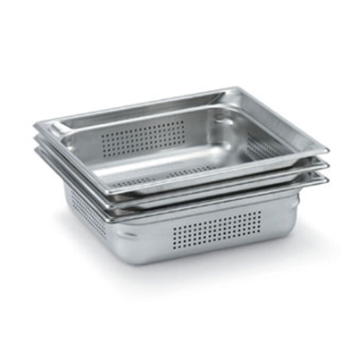 "Vollrath 90063 Steam Table Pan - Perforated, Full Size, 6"" Deep, Stainless"