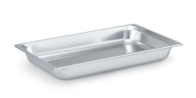 "Vollrath 90022 Steam Table Pan - Full Size, 2-1/2"" Deep, Stainless"