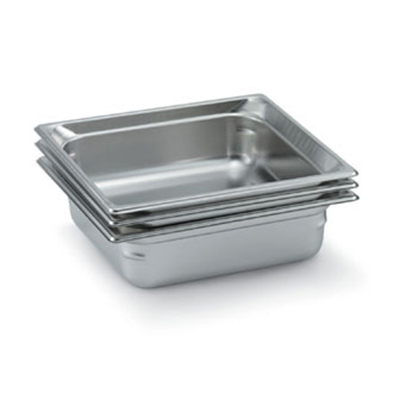 "Vollrath 90122 Steam Table Pan - 2/3 Size, 2-1/2"" Deep, Stainless"