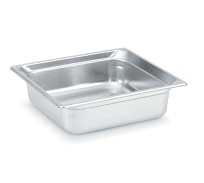 "Vollrath 90142 Steam Table Pan - 2/3 Size, 4"" Deep, Stainless"