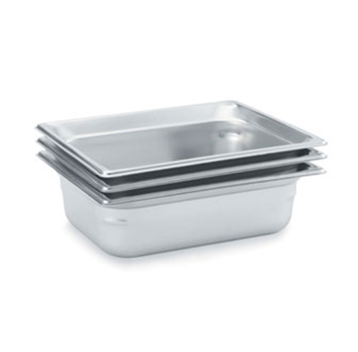 "Vollrath 90212 Steam Table Pan - Half Size, 1-1/2"" Deep, Stainless"