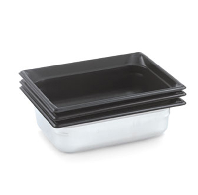 "Vollrath 90227 Steam Table Pan - Black Coating, Half Size, 2-1/2"" Deep, Stainless"