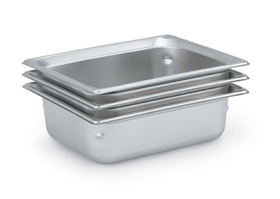 "Vollrath 90242 Steam Table Pan - Half Size, 4"" Deep, Stainless"