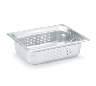 "Vollrath 90243 Steam Table Pan - Perforated, Half Size, 4"" Deep, Stainless"