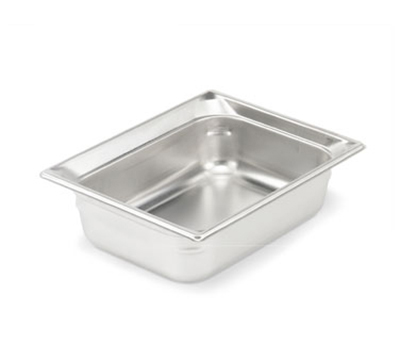 "Vollrath 90262 Steam Table Pan - Half Size, 6"" Deep, Stainless"