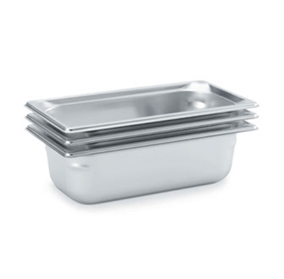 "Vollrath 90302 Steam Table Pan - 1/3 Size, 3/4"" Deep, Stainless"