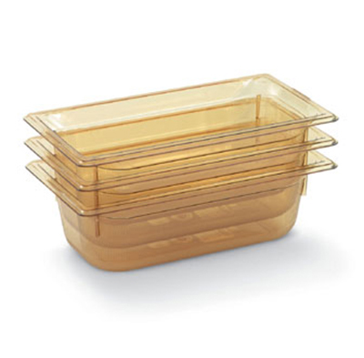 "Vollrath 9038410 1/3 Size Hot Food Pan - 8"" Deep, Amber"