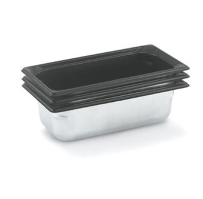 "Vollrath 90367 Steam Table Pan - Black Coating, 1/3 Size, 6"" Deep, Stainle"