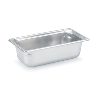 "Vollrath 90342 Steam Table Pan - 1/3 Size, 4"" Deep, Stainless"