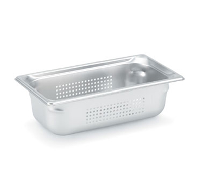 "Vollrath 90343 Steam Table Pan - Perforated, 1/3 Size, 4"" Deep, Stainless"