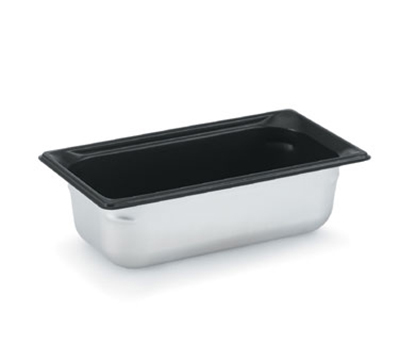 "Vollrath 90347 Steam Table Pan - Black Coating, 1/3 Size, 4"" Deep"