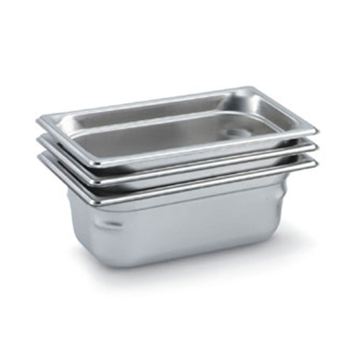 Vollrath 90412 Fourth-Size Steam Pan, Stainless