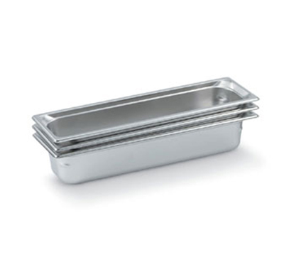 "Vollrath 90502 Steam Table Pan - Half Size Long, 3/4"" Deep, Stainless"