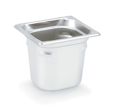 "Vollrath 90662 Steam Table Pan - 1/6 Size, 6"" Deep, Stainless"