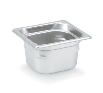 "Vollrath 90642 Steam Table Pan - 1/6 Size, 4"" Deep, Stainless"