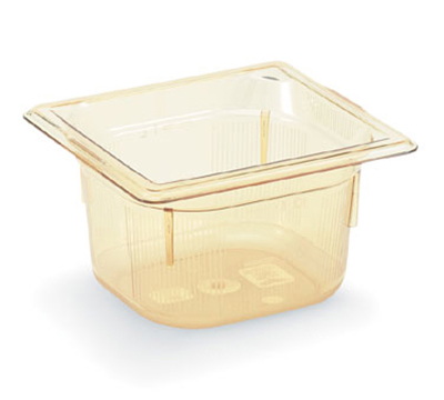 "Vollrath 9062410 1/6 Size Hot Food Pan - 2-1/2"" Deep, Amber"