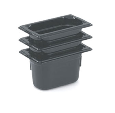 "Vollrath 9092420 1/9 Size Hot Food Pan - 2-1/2"" Deep, Black"