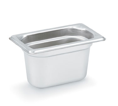 "Vollrath 90942 Steam Table Pan - 1/9 Size, 4"" Deep, Stainless"