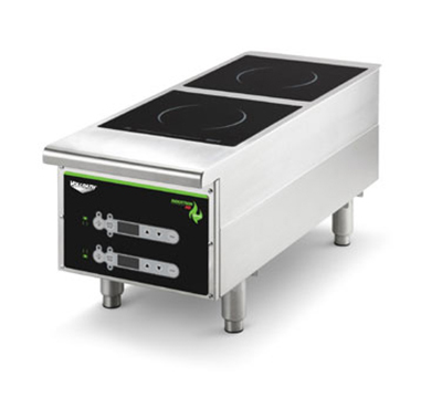 Vollrath 912HIDC Heavy-Duty Countertop Induction Hotplate - 2-Hob, Digital, 208-240v