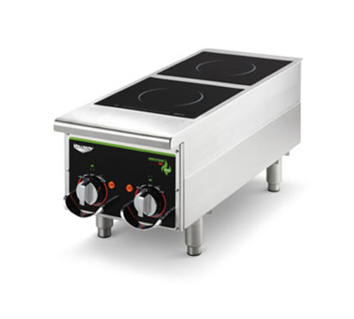 Vollrath 912HIMC Heavy-Duty Countertop Induction Hotplate - 2-Hob, Dial Control, 208-240v