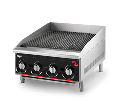 "Vollrath 924CG 24"" Heavy-Duty Charbroiler - Manual Control, 80,000 BTU LP"