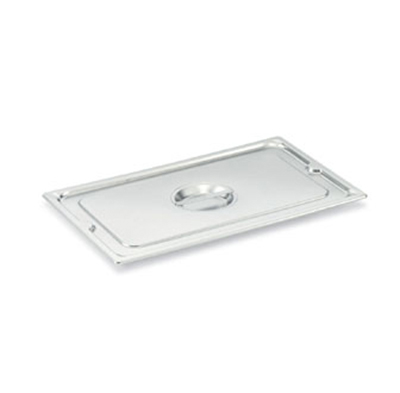 Vollrath 93500 Steam Table Pan Cover - Half-Size Long, Flat Solid, Stainless
