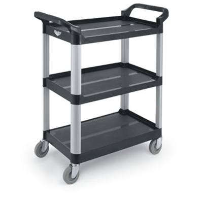 "Vollrath 97006 Multi-Purpose Cart - 33x16-13/16x37"" 300-lb Capacity, Plastic/Aluminum, Black"