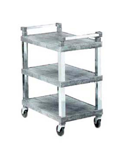 "Vollrath 97102 3-Shelf Utility Cart - 300-lb Capacity, 30-1/2x18-1/2x36"" Gray Plastic"