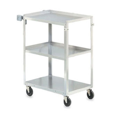 "Vollrath 97125 3-Shelf Utility Cart - 400-lb Capacity, 27-1/2x15-1/2x32-5/8"" Stainless"